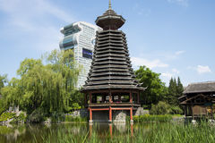 Asia Chinese, Beijing, China Minzu Yuan, architectural landscape,Drum-tower Royalty Free Stock Images