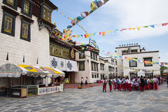 Asia Chinese, Beijing, China Minzu Yuan, architectural landscape, the Jokhang Temple Royalty Free Stock Image