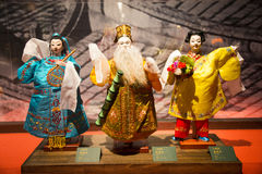 Asia Chinese, Beijing, Chinese Art Museum, indoor exhibition hall, puppet,Chinese The traditional myth figures, Stock Images