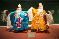 Asia Chinese, Beijing, Chinese Art Museum, indoor exhibition hall, puppet,Chinese The traditional myth figures, Stock Image