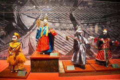 Asia Chinese, Beijing, Chinese Art Museum, indoor exhibition hall, puppet,Chinese The traditional myth figures Royalty Free Stock Image