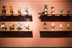 Asia Chinese, Beijing, Chinese Art Museum, indoor exhibition hall, puppet,Traditional Chinese myth figures, Stock Photography