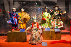 Asia Chinese, Beijing, Chinese Art Museum, indoor exhibition hall, puppet,Traditional Chinese myth figures, Stock Photos