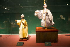 Asia Chinese, Beijing, Chinese Art Museum, indoor exhibition hall, puppet,Traditional Chinese myth figures Stock Photo