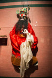 Asia Chinese, Beijing, Chinese Art Museum, indoor exhibition hall, puppet,Traditional Chinese myth figures,Zhong Kui Royalty Free Stock Images