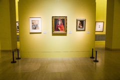 Asia Chinese, Beijing, Chinese Art Museum, indoor exhibition hall,Figure painting, Stock Photography