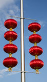 In Asia, Chinese, Beijing, city landscape, red lanterns Stock Photo