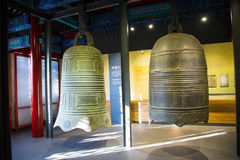 Asia Chinese, Beijing, Dazhongsi Ancient Bell Museum,Indoor exhibition, Royalty Free Stock Photos