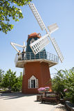 Asia Chinese, Beijing, European architecture, top of the beautiful spring town,Windmill Royalty Free Stock Photography