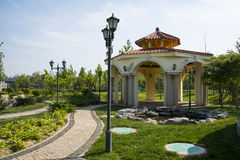 Asia Chinese, Beijing, Garden Expo,Landscape architecture, Macao Garden,pavilions Royalty Free Stock Photo