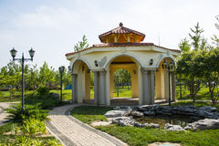 Asia Chinese, Beijing, Garden Expo,Landscape architecture, Macao Garden,pavilions Stock Image