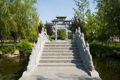Asia Chinese, Beijing, Garden Expo,Landscape architecture, stone bridge,stone archway Royalty Free Stock Images