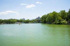 Asia Chinese, Beijing, Longtan Lake Park, Lake in summer Stock Photos