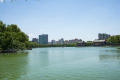 Asia Chinese, Beijing, Longtan Lake Park, Lake in summer Royalty Free Stock Photos