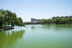 Asia Chinese, Beijing, Longtan Lake Park, Lake in summer Stock Image