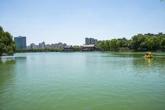 Asia Chinese, Beijing, Longtan Lake Park, Lake in summer Royalty Free Stock Images