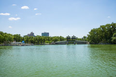 Asia Chinese, Beijing, Longtan Lake Park,Lakeview Stock Photography