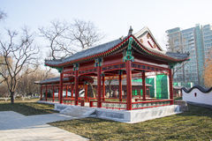 Asia Chinese, Beijing, Longtan Lake Park,Pavilion, Gallery Royalty Free Stock Photo