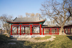 Asia Chinese, Beijing, Longtan Lake Park,Pavilion, Gallery Royalty Free Stock Photos