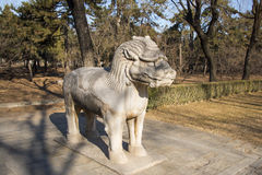 Asia Chinese, Beijing, Ming Dynasty Tombs, God Road, stone carving,xiezhi Royalty Free Stock Photography