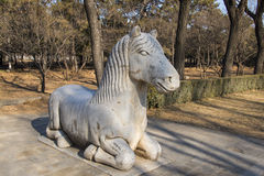 Asia Chinese, Beijing, Ming Dynasty Tombs, God Road, stone carving,xiezhi Stock Photo