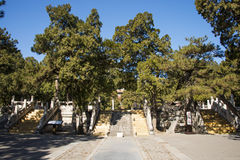 Asia Chinese, Beijing, Ming Dynasty Tombs scenic area, Dingling,Landscape architecture Stock Photos
