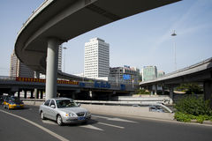Asia Chinese, Beijing, modern architecture, Xizhimen overpass Stock Photography