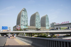 Asia Chinese, Beijing, modern architecture, Xizhimen overpass Stock Photos
