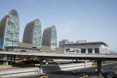 Asia Chinese, Beijing, modern architecture, Xizhimen overpass Royalty Free Stock Images