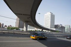 Asia Chinese, Beijing, modern architecture, Xizhimen overpass Stock Image
