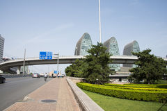 Asia Chinese, Beijing, modern architecture, Xizhimen overpass Royalty Free Stock Photo