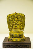 Asia Chinese, Beijing, National Museum, Contemporary Art Biennale,Gold plated brass,Four arm Guanyin, Buddha Stock Photos