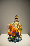 Asia Chinese, Beijing, National Museum, Contemporary Art Biennale,Tang Cai, camphor, Guanyin Buddha Stock Images