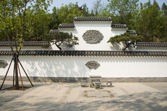 Asia Chinese, Beijing, North Palace, Forest Park, Landscape architecture, white walls, black tiles Royalty Free Stock Image