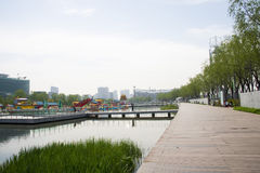 Asia Chinese, Beijing, Olympic Park, lake, landscape, Royalty Free Stock Photography