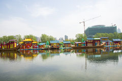 Asia Chinese, Beijing, Olympic Park, lake, landscape, Stock Photos