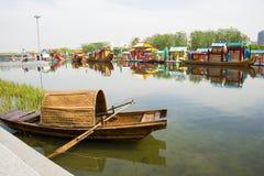 Asia Chinese, Beijing, Olympic Park, lake, landscape, Royalty Free Stock Image