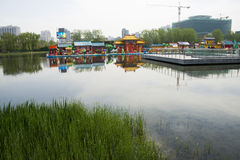 Asia Chinese, Beijing, Olympic Park, lake, landscape, Stock Photography
