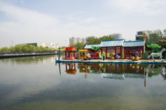 Asia Chinese, Beijing, Olympic Park, lake, landscape, Stock Images