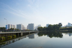In Asia, Chinese, Beijing, Olympic Park, lake, landscape, Royalty Free Stock Photography