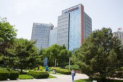 Asia Chinese, Beijing, park, modern building. Asia China, Beijing, Madian Park, modern building, Ma Dianzhong smelter home group building stock photos
