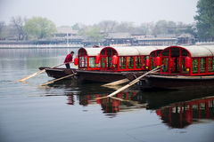 In Asia, Chinese, Beijing,shi cha hai , cruise Royalty Free Stock Photography