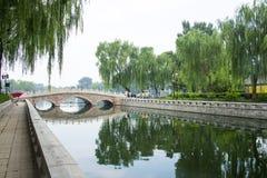 Asia Chinese, Beijing, Shichahai Scenic, jin ding bridge Royalty Free Stock Image