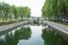 Asia Chinese, Beijing, Shichahai Scenic, jin ding bridge Stock Images