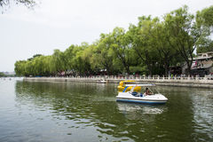Asia Chinese, Beijing, Shichahai scenic,Lakeview Royalty Free Stock Photography