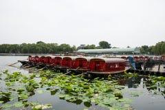 Asia Chinese, Beijing, Shichahai scenic,Lakeview, cruise Royalty Free Stock Photo
