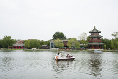 Asia Chinese, Beijing, Shichahai scenic,Lakeview, wanghailou Stock Images