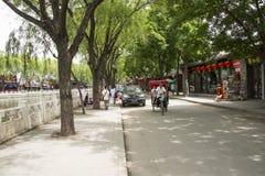 Asia Chinese, Beijing, Shichahai scenic,Rickshaw Royalty Free Stock Photo