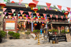 Asia Chinese, Beijing, Shichahai scenic spot, the fire of God Temple, Stock Photos