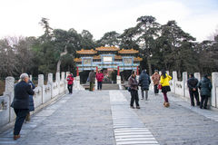 Asia Chinese, Beijing, the Summer Palace, landscape architecture, archway Royalty Free Stock Images